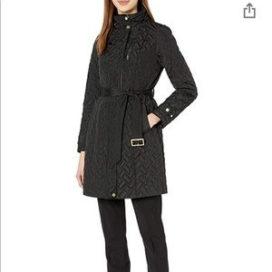 Cole Haan Quilted Ecodown Belted Jacket